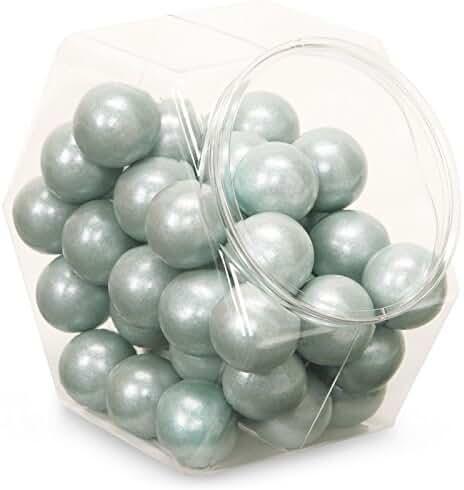 Sweetworks Celebration Candy Gumballs Bag, 8 oz, Shimmer Silver