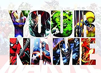 Personalised Name Marvel Avengers Decal Playroom Wall Sticker Wall Art  Vinyl Transfer Wall Wall Mural (
