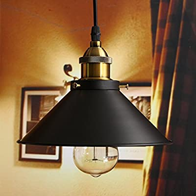 JIGUOOR Industrial Wall Sconce,Mini Adjustable Vintage Edison Simplicity Wall Lamp Loft Style with Black Metal Shade for Cafe and Club