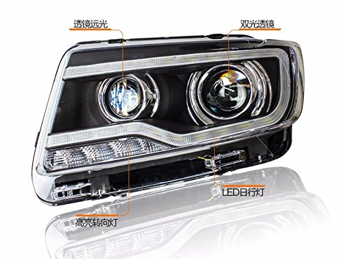 GOWE Car Styling for JEEP Compass 2011-2015 LED Headlight for Compass Head Lamp LED Daytime Running Light LED DRL Bi-Xenon HID Color Temperature:500K;Wattage:55K 4