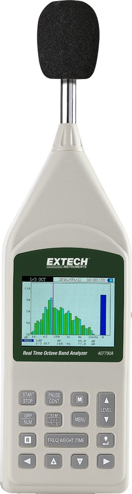 Extech 407790A Real Time Octave Band Analyzer by Extech