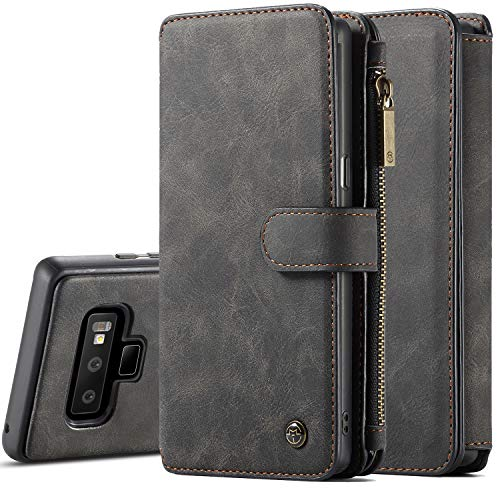 Galaxy Note 9 Case, XRPow Note 9 Detachable Magnetic Leather Wallet Folio Flip Card Slot Case with Removable Slim Back Cover for Samsung Galaxy Note 9 (Black) by XRPow