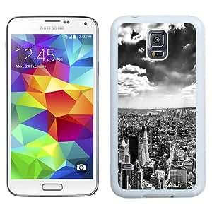 NEW Unique Custom Designed Samsung Galaxy S5 I9600 G900a G900v G900p G900t G900w Phone Case With New York City Black And White_White Phone Case
