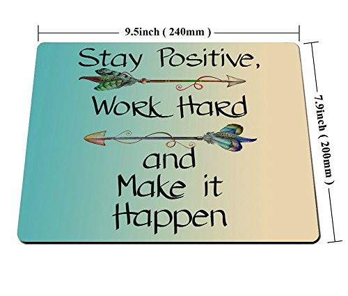 Smooffly Gaming Mouse Pad Custom Stay Positive Work Hard