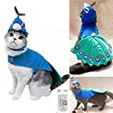 Bro'Bear Pet Peacock Costume with Hat for Small Dogs & Cats Blue Larger Image