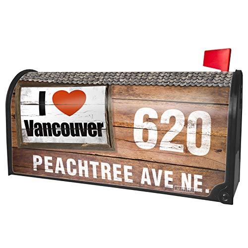 NEONBLOND Custom Mailbox Cover I Love Vancouver Region: Canada, North America -
