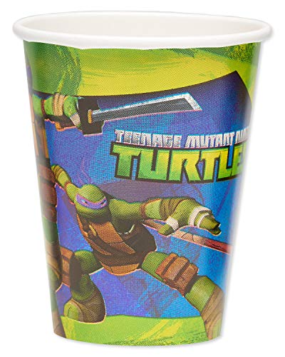 American Greetings, Teenage Mutant Ninja Turtle 9 oz. Paper Cups, 8-Count -