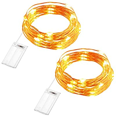 GDEALER 2 Pack Fairy Lights Battery Operated String Lights Waterproof