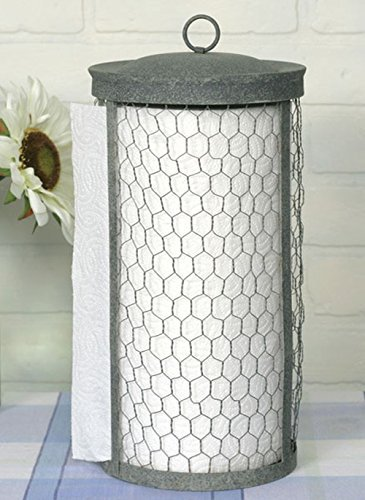 Rustic Paper Towel Holder - Chicken Wire Paper Towel Holder