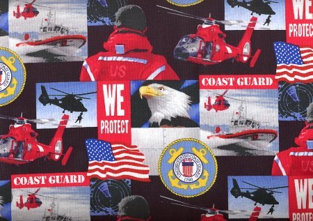 United States Coast Guard -100% Cotton 44