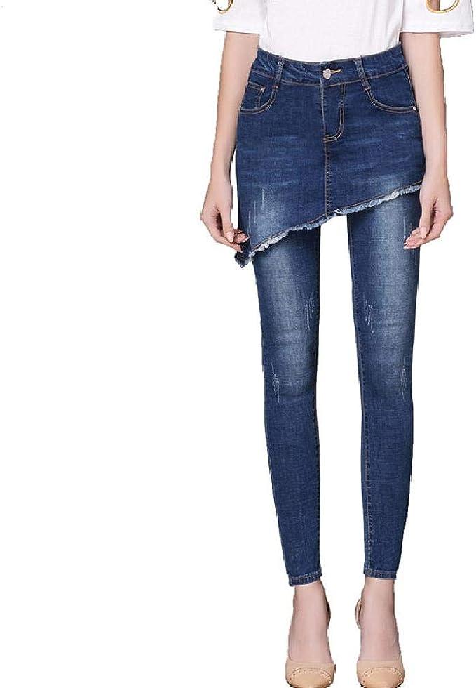 Jeans Taglie Forti Da Donna Gamba Dritta Stretch Denim Pantaloni Donna Pantaloni semplici