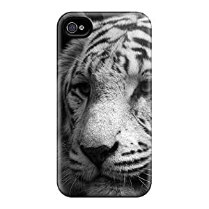 Special Design Back Great Tiger Portrait Phone Case Cover For Iphone 4/4s