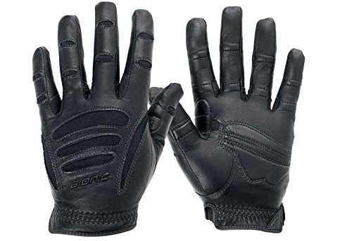 Bionic Men's with Natural Fit Technology Driving Gloves, Black, X-Large