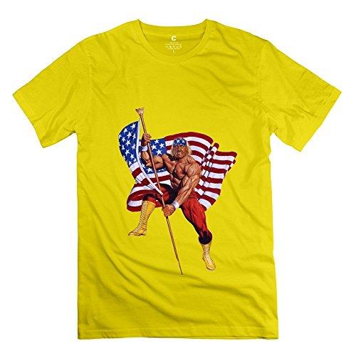 Geek Hulk Hogan Old Glory Flag Men's T Shirt Yellow Size XS - Old Samsung Microwave