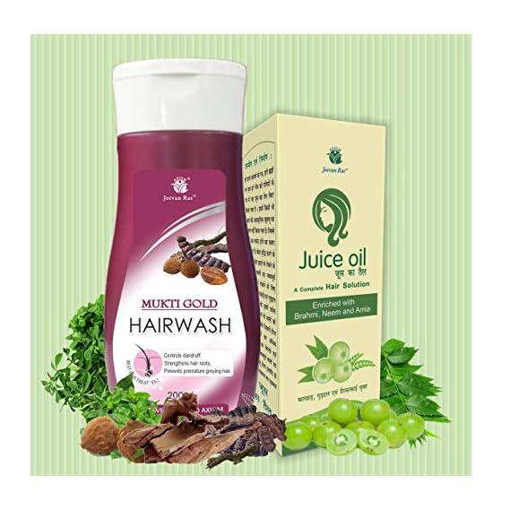 Axiom_Ayurveda Muktigold Hair Combo Juice Oil and Shampoo (100 and 200 ml)
