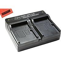 BM Premium BP718, BP727 Dual Battery Charger for Canon Vixia HFR70, HFR72, HFR700 HFM50, HFM52, HFM500, HFR30, HFR32, HFR300, HFR40, HFR42, HFR400, HFR50, HFR52, HFR500, HFR60, HFR62, HFR600 Camcorder
