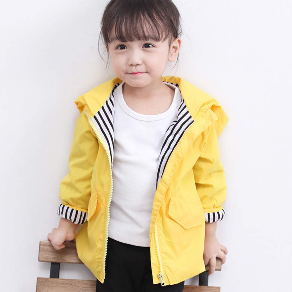 FORESTIME Toddler Raincoat Kids Baby Boy Girl Cartoon Dinosaur Adorable Hooded Solid Zipper Clothes Coat