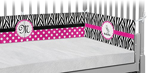 Zebra Crib Bumper Pads (Personalized) by RNK Shops