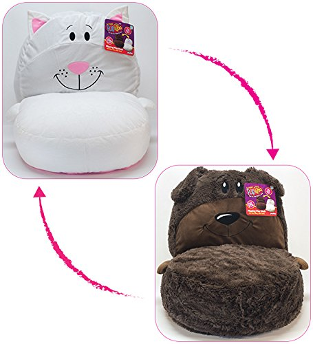 Delicieux FlipaZoo 2 In1 Plush Toddler Chair U2013 Transforms From Brown Dog To White Cat  U2013 Snuggly