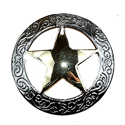 Set Of 6 Fancy Garland Lone Star Drawer Pulls Cabinet Knobs Western Southwest Decor Texas Nickel Gold