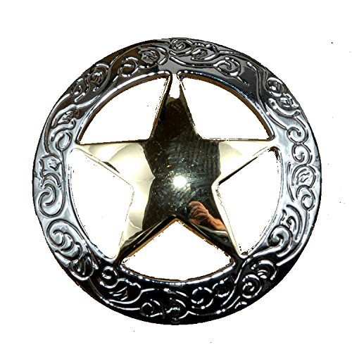 Pull Lone Star (Set of 6 Fancy Garland Lone Star Drawer Pulls Cabinet Knobs Western Southwest Decor Texas (Nickel Gold))