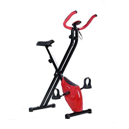 Confidence Fitness Folding Exercise Bike Stationary Upright X Bicycle