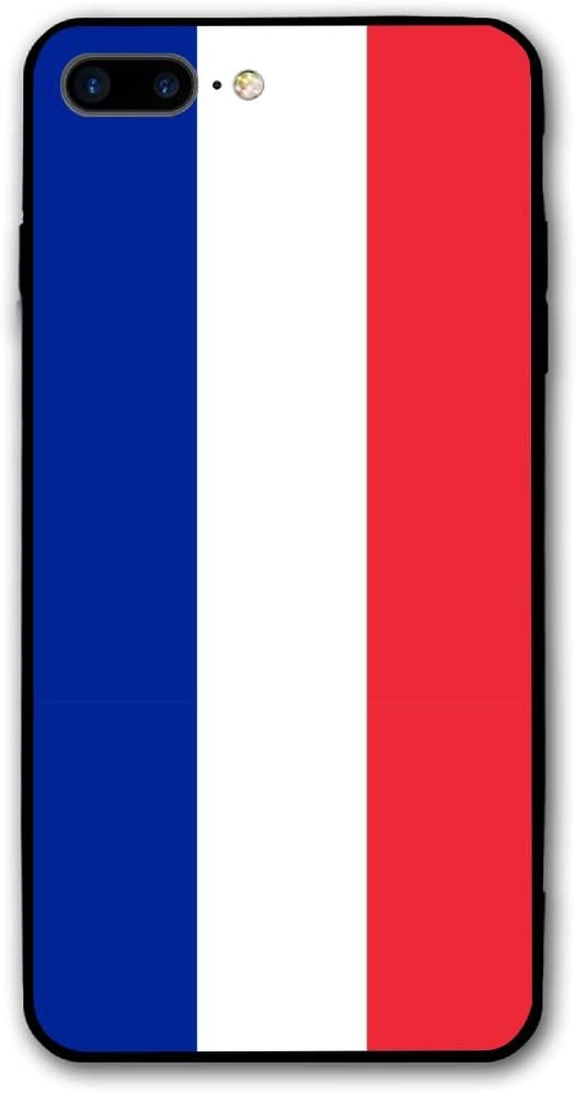 IPhone 8 Plus Case Flag Of France And Monaco Impact Resistant Protective Shell PC Material Cover Case For IPhone 8 Plus 5.5 Inch