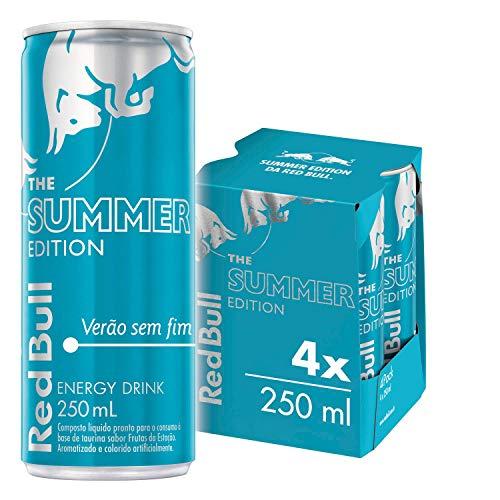 Energético Verão sem Fim, Edição Limitada Red Bull Energy Drink Pack com 4 Latas de 250ml