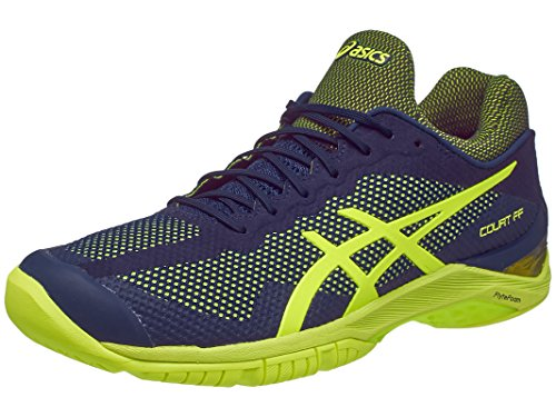 ASICS Gel-Court FF Mens Tennis Shoes Indigo Blue/Safety Yellow 12 M US