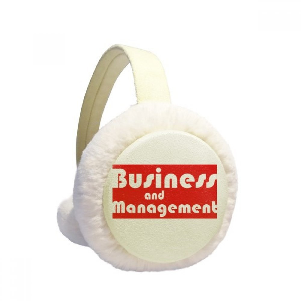 Major Business And Management Red Winter Earmuffs Ear Warmers Faux Fur Foldable Plush Outdoor Gift