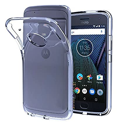 buy online a5fcf 7225c Azzil Soft Silicon Back Cover for Motorola Moto E4(Transparent)