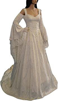 Guiran Disfraz Medieval Mujer Largo Vestidos de Novia Vintage ...