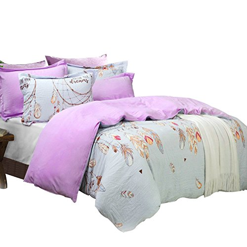 - Tealp Dream Stories Bedding Dreamcatcher Duvet Cover 3 Pieces Bedroom Bedding Collections Queen Size