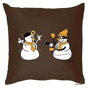 Decoración Cojín, Cojín con relleno, divertido, regalo de Navidad, böser Muñeco de nieve