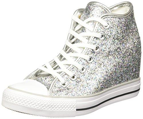 Converse 552698C Sneaker Woman Bianco e Argento uYGIk32N