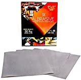 ALbrasives Wet Dry Sandpaper Sheets 9 x 11 Inches, 50 Pack, Made of Silicon Carbide (2500 Grit)