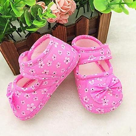Tensay Kids Baby Boys Girls Newborn Bowknot Floral Printing Cloth Shoes