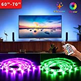 "Bason Led Strip Lights for 60""-70"" HDTV/Wall Mount TV, USB Powered Tv Led Backlight with Remote Control, Led Strips Tv Bias Lighting for Entertainment Center Room Decorations Home Movie Theater."