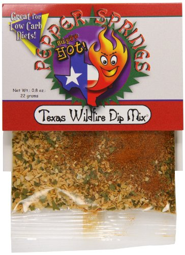 Pepper Dip Mix (Pepper Springs Texas Wildfire Dip Mix, 0.8 Ounce)