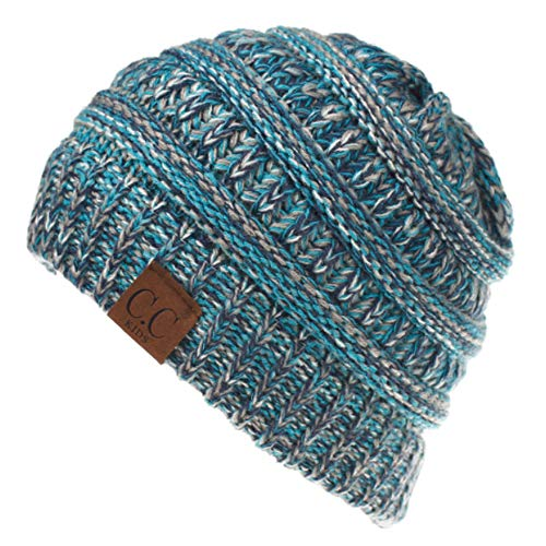XRDSS Kids CC Baby Toddler Ribbed Knit Warm Chunky Thick Winter Hat Beanie Cap (Light Blue)