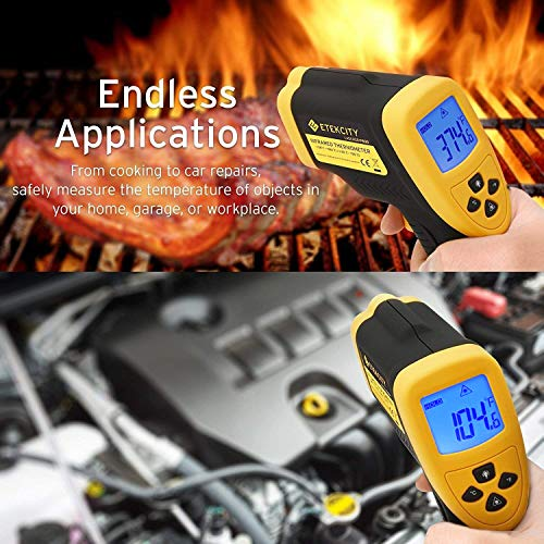 Etekcity Lasergrip 800 Digital Infrared Thermometer Laser Temperature Gun Non-contact -58℉ - 1382℉ (-50℃ to 750℃), Yellow/Black by Etekcity (Image #5)