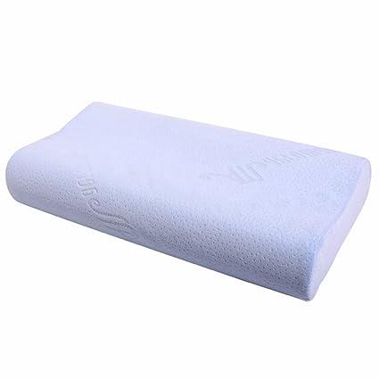 Almohada viscoelástica de espuma viscoelástica con ventilación de refrigeración – almohada de masaje cervical para dormir
