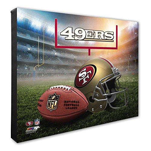Photo File NFL San Francisco 49ers Helmet & Stadium High Resolution Canvas, 16