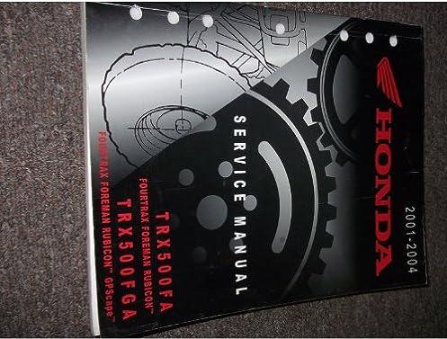 2001 2002 2003 2004 honda trx500fa trx500fga fpa service shop repair rh amazon com Owner's Manual Service ManualsOnline
