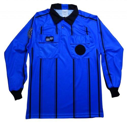 Pro USSF Blue Stripe Longsleeve Referee Shirt - XXX-Large