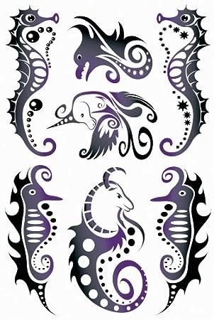 Herma Tatuajes * Black tipo Caballito de mar: Amazon.es: Electrónica