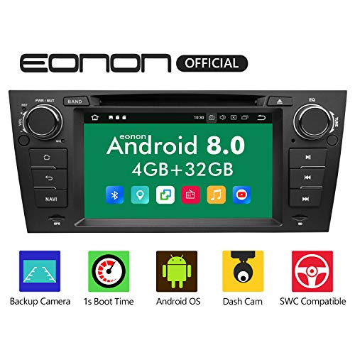 Eonon Android Radio, Car Stereo Radio, Android 8.0 Car Head Unit, in Dash Touch Screen Car Radio 4GB RAM 32GB ROM Octa-Core Radio 7 Inch BMW 3 Series Support Double Bluetooth,WiFi,Fastboot-GA9165B