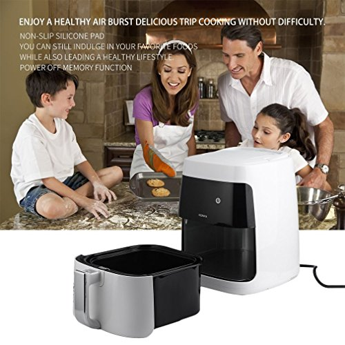Homgrace Air Fryer, 2.5L Smokeless Electric Air Fryer Non-stick Fryer French Fries Machine 220V by Homgrace (Image #1)