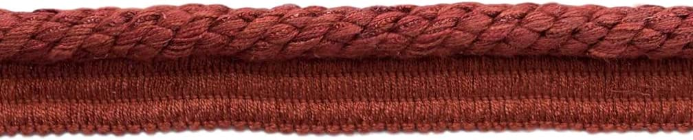 Brick Red Veranda Collection Trim Cord with Sewing Lip Style# 0038V Color Rusty Brick VNT22 Sold by The Yard D/ÉCOPRO Elaborate 3//8 inch Rust