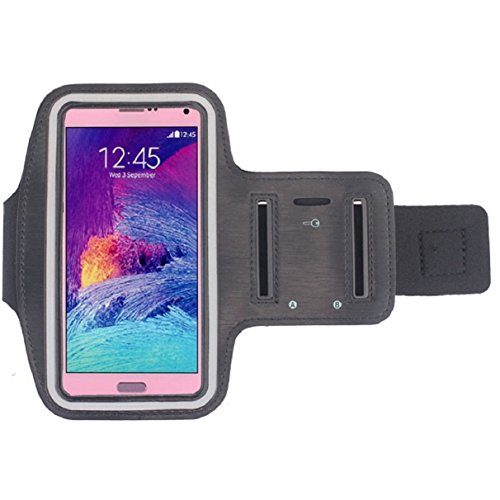 Note 4 Case,Landfox Galaxy Note 4 Case!for Samsung Galaxy Note 4 New Sports Gym Armband Arm Band Case (Black)